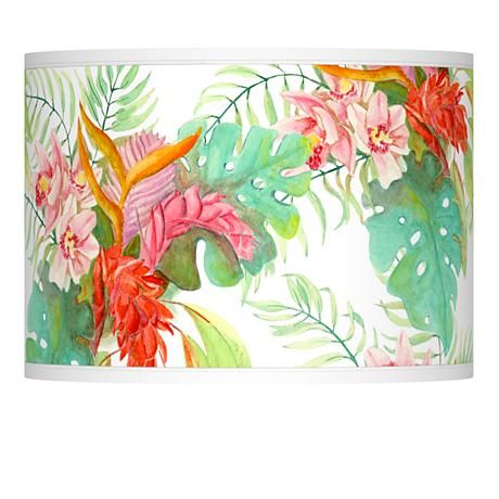 211 best lamp shades images on pinterest lamp shades lampshades island floral giclee lamp shade 135x135x10 spider style 37869 9g187 aloadofball Choice Image