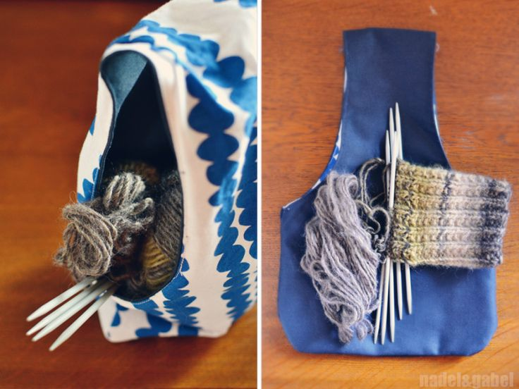 Handy – Reversible knitters project bag | nadel&gabel