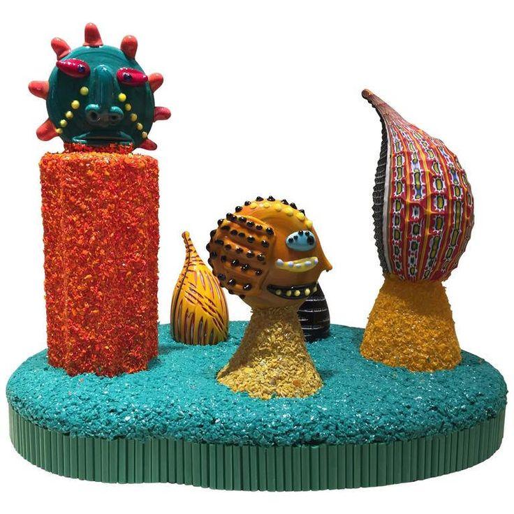 Scultura in vetro / scultura astratta in vetro / vetro di murano / murano glass / glass head / murrine / minoliths di Sanmarcoartedesign su Etsy