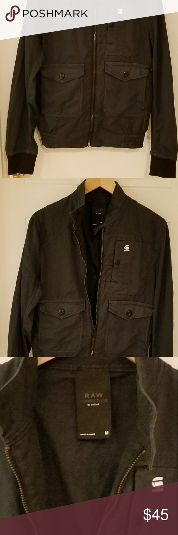 G STAR RAW DENIM Bomber Jacket (M) G STAR RAW Denim Bomber Jacket (Navy Blue) EXCELLENT CONDITION G-Star Jackets & Coats Bomber & Varsity