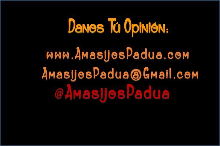 #AmasijosPadua ENCUENTRANOS EN TODAS LAS #REDESSOCIALES! Padua Amasijos @AmasijosPadua nos gustaria saber ¿que opinas?