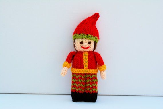 Christmas Elf Christmtas Doll Toy Knitting by EdithGraceDesigns