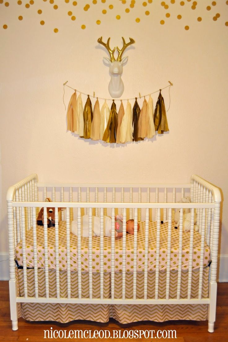 48 best Blush Pink and Gold Baby Deer Fawn Nursery and Baby Shower ...