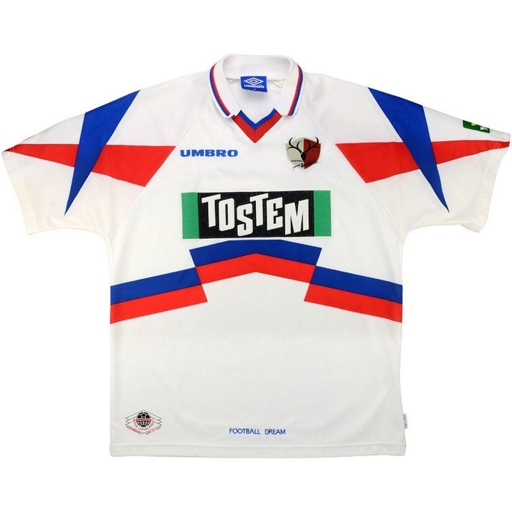 1996-98 Kashima Antlers Away Shirt (Good) XL - Rest Of The World - Classic Retro Vintage Football Shirts