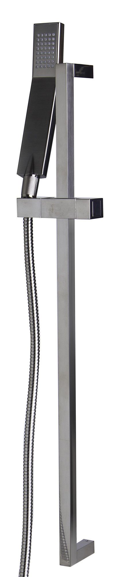 ALFI Brushed Nickel Sliding Rail Hand Held Shower Head Set with Hose