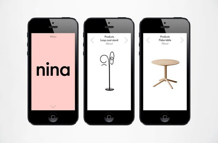 Logotype and website for industrial designer Nina Jobs designed by BVD