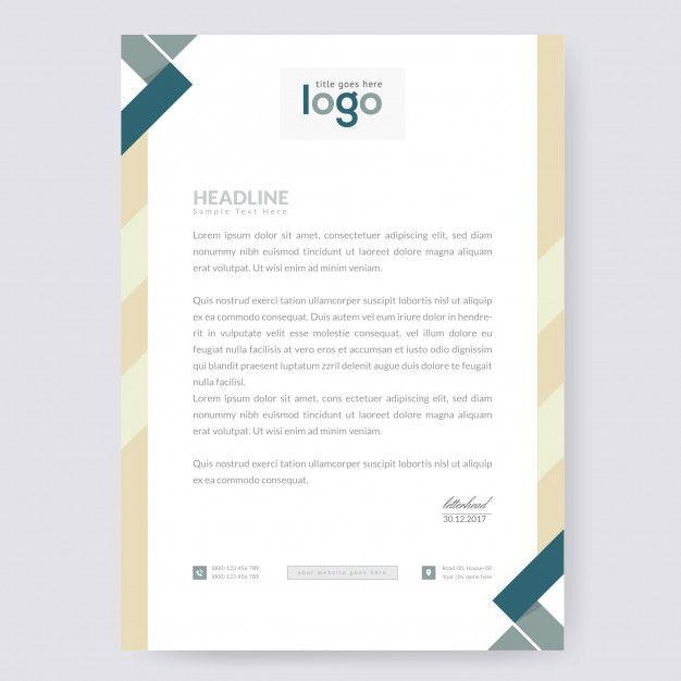 Alastor Professional Corporate Letterhead Template 001026: Letterhead Template.