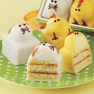 Easter Mini cakes: Bunny Cakes, Easter Cakes, Sweet, Food, Cakes Cupcakes, Swiss Colony, Cakes Theswisscolony Easter, Easter Ideas, Dessert