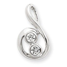 Sterling Silver CZ Pendant - JewelryWeb JewelryWeb. $26.40