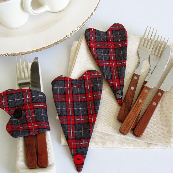 Heart napkin rings