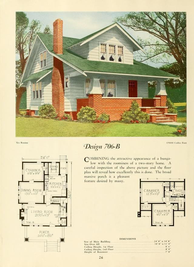 Old bungalow house plans for Vintage bungalow house plans