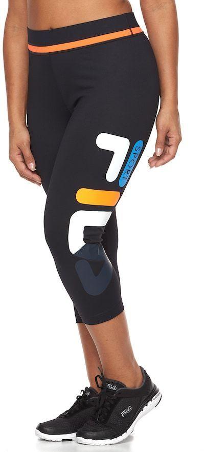 718cc158ad342 FILA SPORT Plus Size FILA Sport® Rainbow Blast Capri Workout Leggings