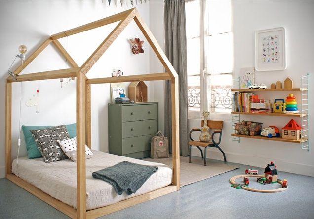 Chambre Montessori cabane