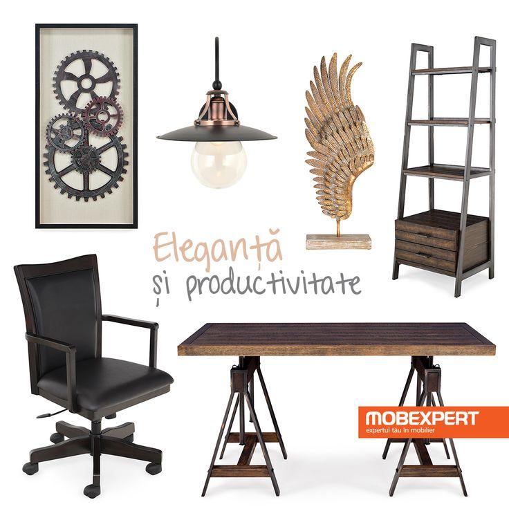 Lucrează cu stil în biroul de acasă. #decoideea #moodboard #birou