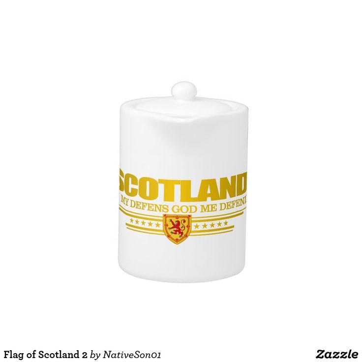 Flag of Scotland 2 Teapot