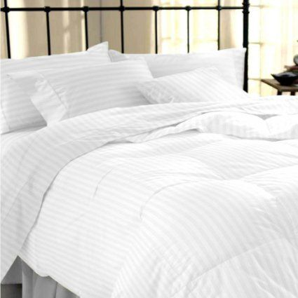 sapphire collection 100 stripe tc400 egyptian cotton white duvet cover pillow cases all sizes
