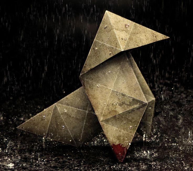 Origami Heavy Rain [2160 x 1920]