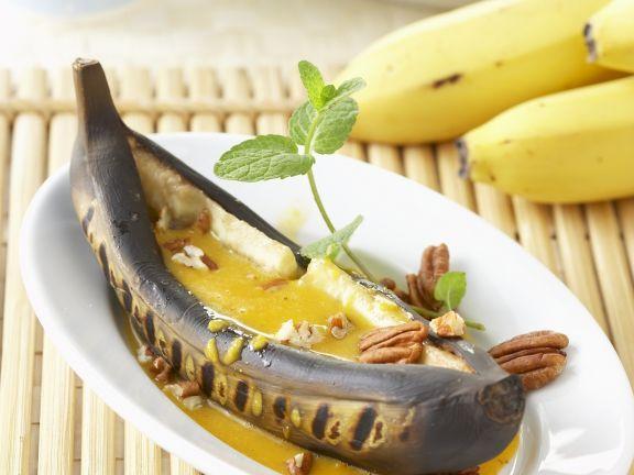 Gegrillte Banane mit Honig-Curry-Soße ist ein Rezept mit frischen Zutaten aus der Kategorie Südfrucht. Probieren Sie dieses und weitere Rezepte von EAT SMARTER!