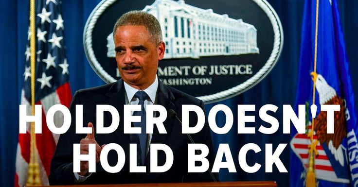 """Eric Holder Rips Republicans For Trying To Make It More Difficult To Vote """"Some Republicans have declared, 'If you can't beat 'em, change the rules,'"""" Holder said."""