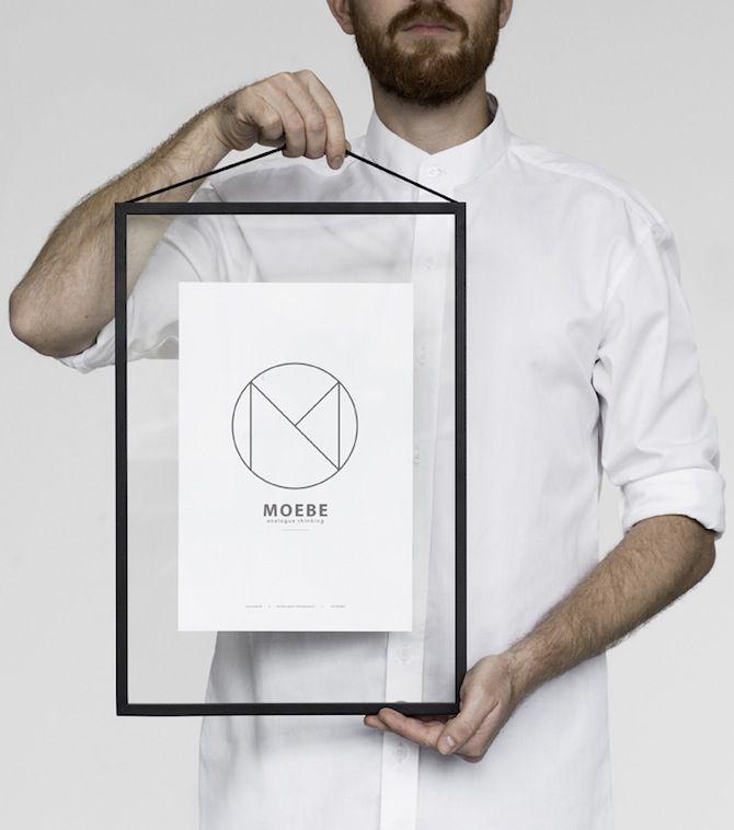 www.moebe.dk - frame met glas aan beide zijden