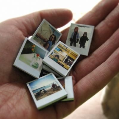 TO my daughter...who has the camera....here ya go, mini polaroid photo magnets (free PDF flie)