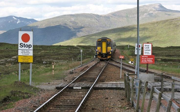 Corrour - eine Bahnstation in den schottischen Highlands.