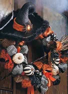 Adorn your front door with a spooky greeting with the Cast A Spell Wreath; a gorgeously detailed  piece to accent your entryway this Halloween.