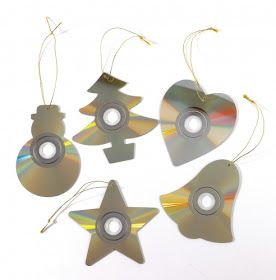 . . . . . How to Recycle: Recycled Christmas Ornaments part3