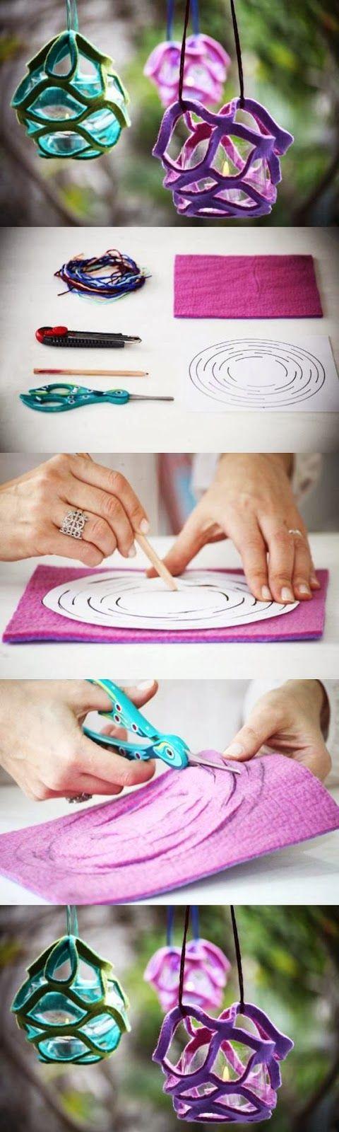DIY : Felt Candle Holder   DIY & Crafts Tutorials