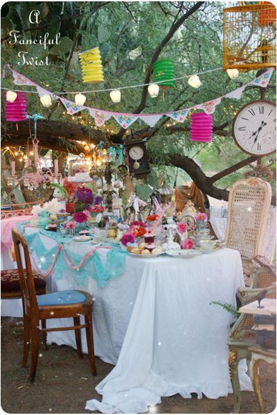 Have a high tea in the style of the mad hatters tea party because the madness shall never end