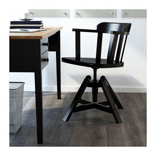 FEODOR Sedia girevole con braccioli - nero, - - IKEA