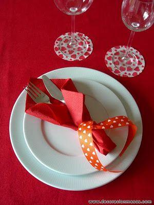 Decoracion de mesas: Ideas para San Valentin