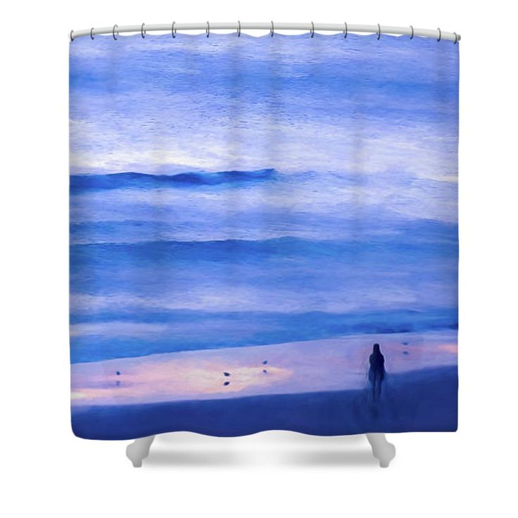 "Looking Into The Abyss Shower Curtain by Leslie Montgomery.  This shower curtain is made from 100% polyester fabric and includes 12 holes at the top of the curtain for simple hanging.  The total dimensions of the shower curtain are 71"" wide x 74"" tall."