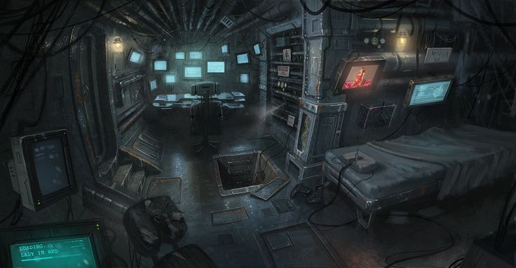 Pin by tamsin on sci fi interior concept art pinterest for Cyberpunk interior design