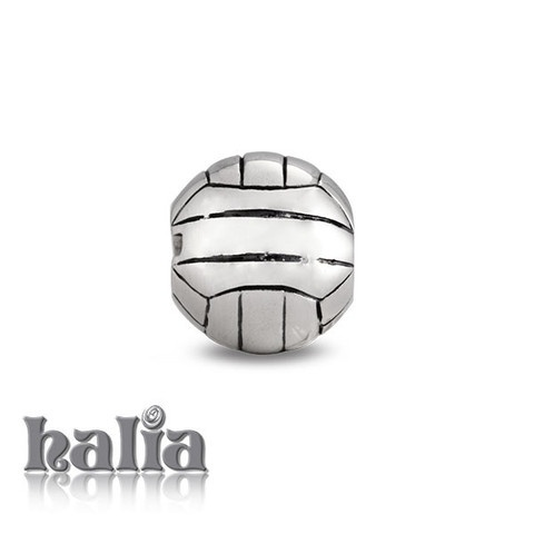 Volleyball: Volleyball bead: designed exclusively by Halia, this bead fits other popular bead-style charm bracelets as well. Sterling silver, hypo-allergenic and nickel free.      $35.00