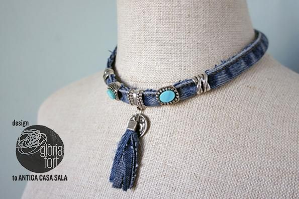 DIY Jeans : DIY JEANS necklace