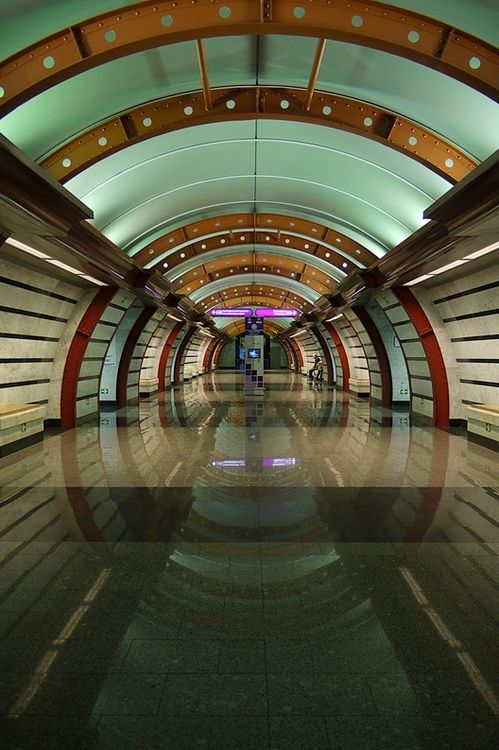 Saint Petersburg, Russia. Underground Subway. One of the newest stations.