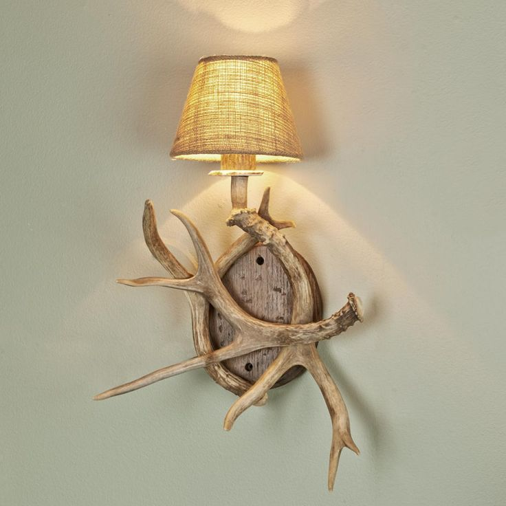 33 Best images about antler lamp on Pinterest Floor lamps, Cabin and Snowshoe