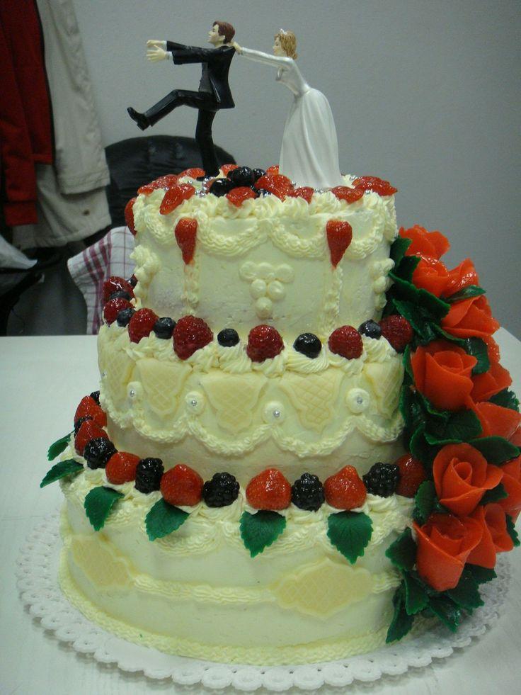 Velký svatební dort Váha cca 14 kg, cena za dort i horní dekoraci. JEN OSOBNÍ ODBĚR - PRAHA A OKOLÍ DOVEZU rozměry:spodní korpus průměr 35 cm, výška 15 cm; střední korpus průměr 30 cm, výška 15 cm; horní korpus průměr 22 cm, výška 17 cm (míry jsou asi tak plus mínu 2-3 cm!!!) materiál: , korpus piškotový, náplň máslová, čokoládová, těžká paříž, ...