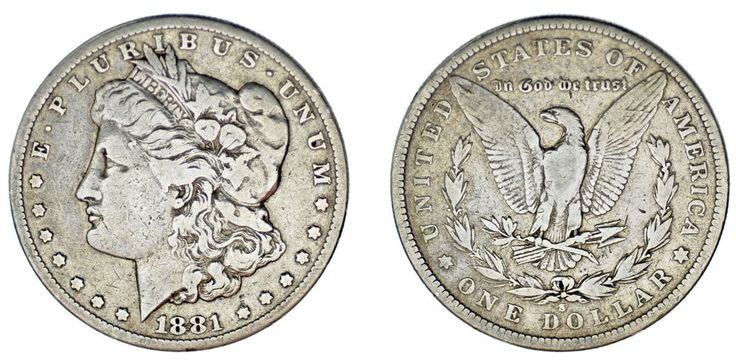 1 SILVER US DOLLAR / 1 DÓLAR MORGAN PLATA. SAN FRANCISCO. 1881 S. VF/MBC.