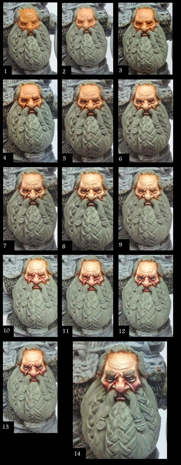 An excellent step by step guide to painting dwarf flesh.