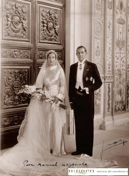 Rome, 1935. Wedding of the Prince of Asturias and Princess María de las Mercedes of Bourbon-Two Sicilies.