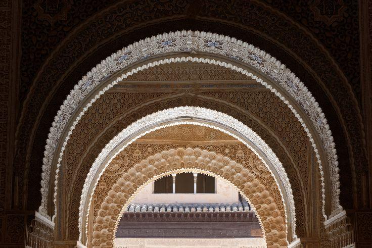 Alhambra, Sala de dos Hermanas (Saal der zwei Schwestern), Granada, Spain