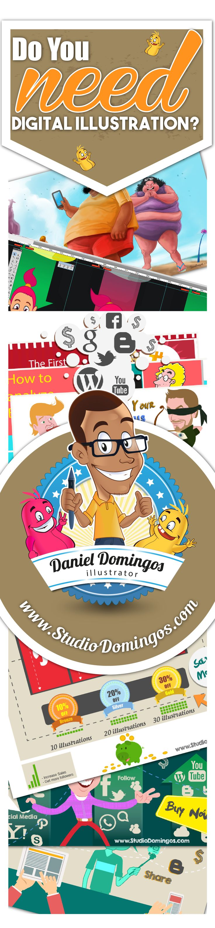 Do you need digital illustration? The Studio Domingos is the best solution!! Get in touch!