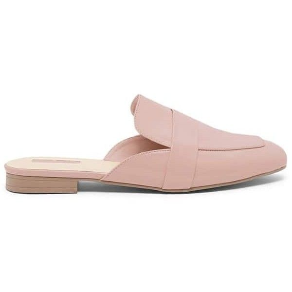 d6d49e358f5 Forever 21 Faux Leather Loafer Mules Blush ( 23) ❤ liked on Polyvore  featuring shoes