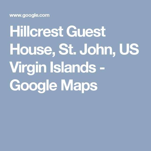 Best Hillcrest Guest House St John US Virgin Islands Images - Us virgin islands google maps