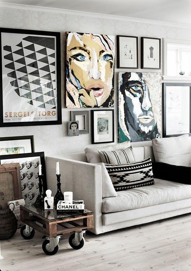 Mix de quadros cria espaço atual