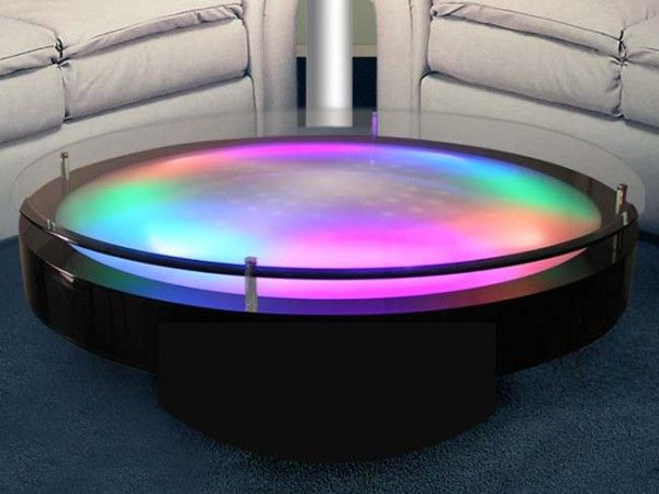 Led Coffee Table With Glass Top