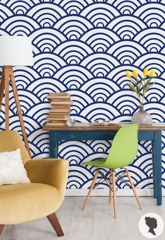 Comes in a ton of colors. 15% OFF Scallop Pattern Wallpaper Regular or Removable by Livettes