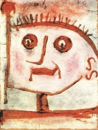 Allégorie de la Propagande (1939)  Tempera et huile sur papier brun marouflé sur bois (33 x 41)  Paul Klee